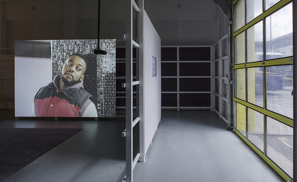 Wendelien van Oldenborgh, From Left To Night, 2015 Installation at The Showroom, London 2015. Photography Daniel Brooke Courtesy Wilfried Lentz Rotterdam and the artist.