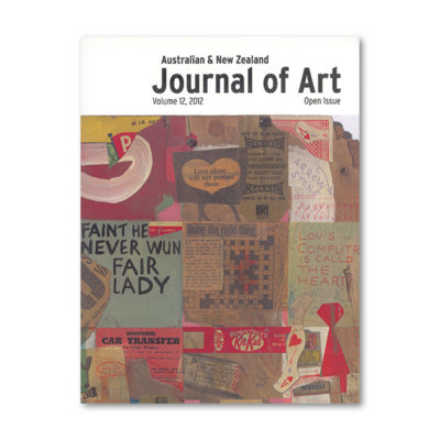 Journal of Art V 12 2012 Front